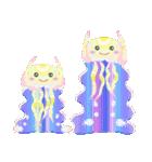 ぷるんと虹色くらげ(個別スタンプ:40)