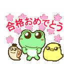 祝!おめでとう!かわいいカエルのスタンプ(個別スタンプ:5)