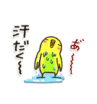 インコちゃんの夏(個別スタンプ:4)
