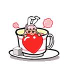 ティーカップ BUNNY(個別スタンプ:02)