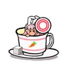 ティーカップ BUNNY(個別スタンプ:12)