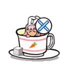 ティーカップ BUNNY(個別スタンプ:13)