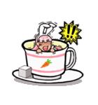 ティーカップ BUNNY(個別スタンプ:18)