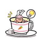 ティーカップ BUNNY(個別スタンプ:19)