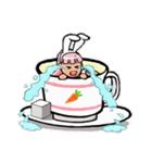 ティーカップ BUNNY(個別スタンプ:28)