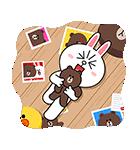 ブラコニ☆飛び出すラブスタンプ(個別スタンプ:04)