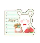いちごとオレンジ♡うさぎとネコ(個別スタンプ:05)
