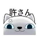 あおめにゃんこ2(個別スタンプ:20)
