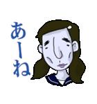 顔色の悪いJKスタンプ(個別スタンプ:01)