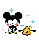 うごく!カナヘイ画♪ミッキー&フレンズ(個別スタンプ:10)