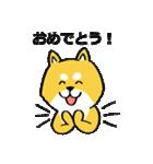「まめ田ちゃめ助」柴犬スタンプ(個別スタンプ:38)