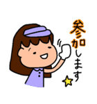 ゴルフ女子のまいにち~第二弾~(個別スタンプ:01)