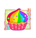 レインボー 虹色スタンプ(個別スタンプ:14)