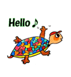 かわいい亀さんたち(個別スタンプ:01)