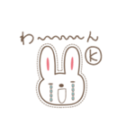 Kちゃんうさぎ cute rabbit for K(個別スタンプ:10)