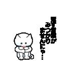 涙ネコ~白まろとふるえる?~(個別スタンプ:08)