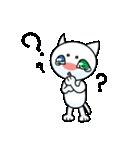 涙ネコ~白まろとふるえる?~(個別スタンプ:09)