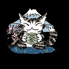 猫のダヤン メッセージスタンプ