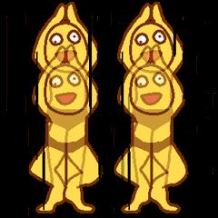 [LINEスタンプ] 変人祭り 黄男