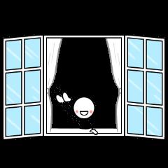 窓の世界からこんにちは