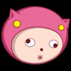ピンクのパジャマスタンプ