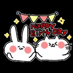 誕生日メッセージスタンプ ②☆