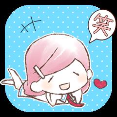 マゼンタ 【ゆるふわ関西弁女子スタンプ】