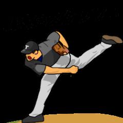 野球のスタンプ!
