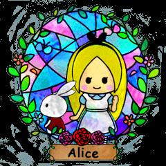 [LINEスタンプ] ガラスの国のアリス (1)