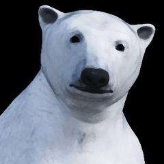 白熊スタンプ