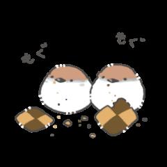 お菓子と鳥さん1(ツバメ、鶯、インコ、他)