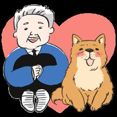 ひろこうじさんと犬の「なかよし」
