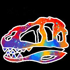 [LINEスタンプ] 恐竜の骨 3