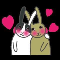 パンダウサギちゃん (恋愛バージョン)