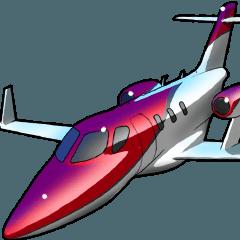 飛行機02(旅客機編)車バイク飛行機シリーズ