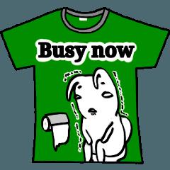 [LINEスタンプ] メッセージはTシャツで☆~ウサギ星人ver~ (1)