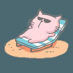 夏が好きすぎる猫
