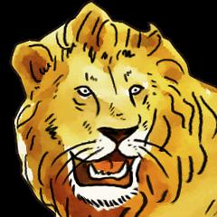 「ライオンです!」
