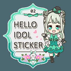 Hello idol sticker 02