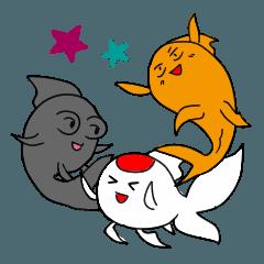 三匹の金魚