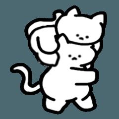 [LINEスタンプ] 恋するにゃんことお友達のアヒルさん