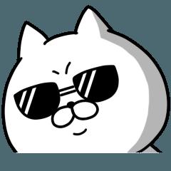 [LINEスタンプ] ハードボイルド!ねこ八郎 (1)