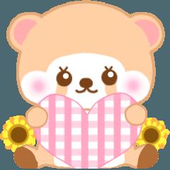 [LINEスタンプ] アライグマのぷーにゃん・夏編 (1)