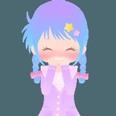 きらきらKawaii女の子 アニメーション