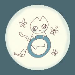Juju Cat シール風スタンプ