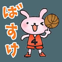 バスケをする動物たち