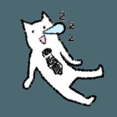 [LINEスタンプ] 勤労意欲の低い猫 (1)