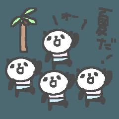 夏だ!ちびちびパンダ Summer cute panda