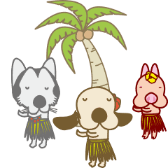 うごくフラダンスな犬