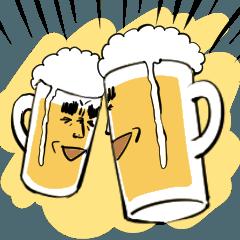動く!ビールスタンプ!